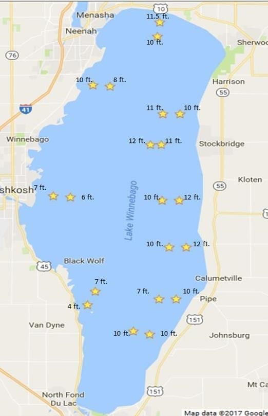 Lake winnebago fishing maps bing images for Fishing lake maps